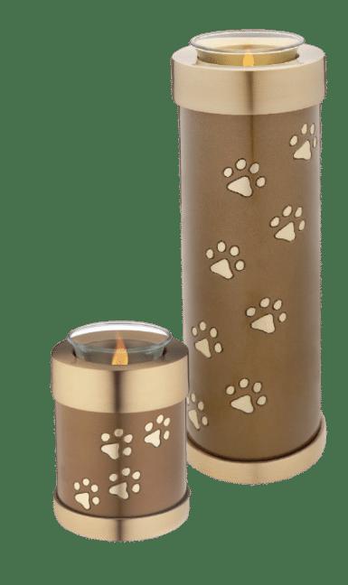 Candle pet urn - brass pet urn