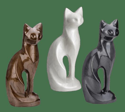cat figurine urn