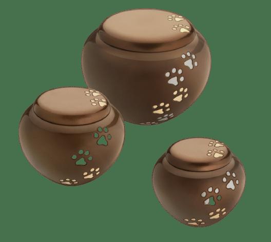 Cuddle pet urn in brass