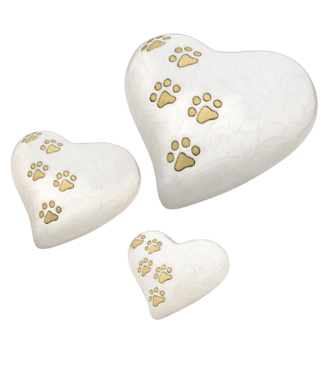 Pearl love paws pet urn