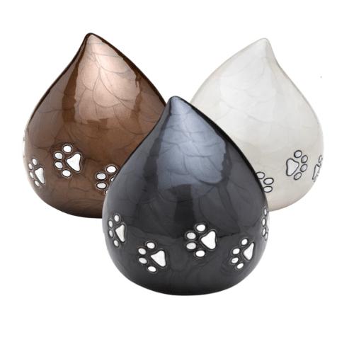 Tear drop pet urn